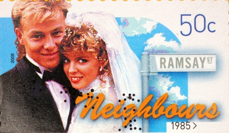 Neighbours on stamp