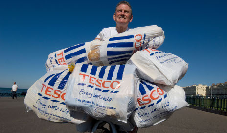 Man carrying supermarket bags