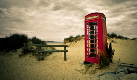 Abandoned red phone box