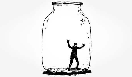 Man stuck in a jar
