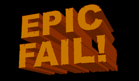 Sign saying 'epic fail'