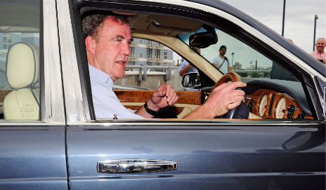 Jeremy Clarkson driving