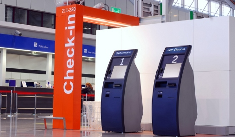 Self-service airport check-ins