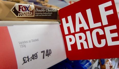 Half price supermarket offer