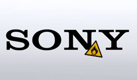 Sony log with fire sign