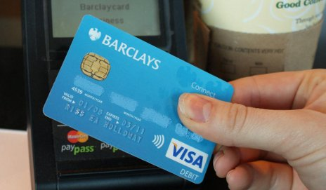 Barclays contactless debit card