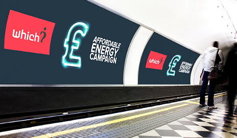Affordable Energy Campaign on the tube