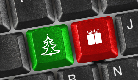 Christmas keys on keyboard