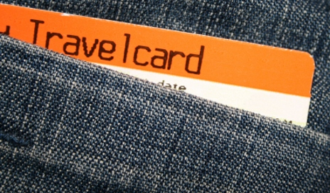 Train ticket in pocket