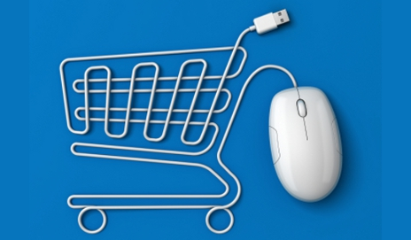 Computer mouse lead in shape of shopping trolley