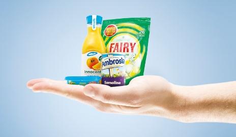 Shrinking products in hand