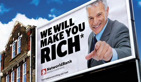 Financial billboard advert