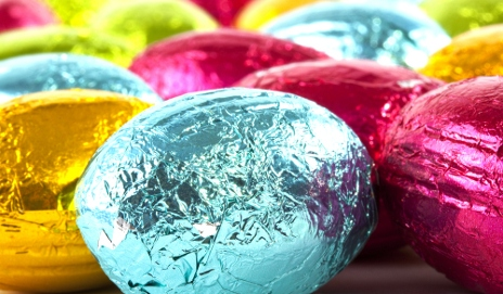 Easter eggs in foil