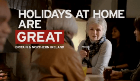 Holiday at home ad