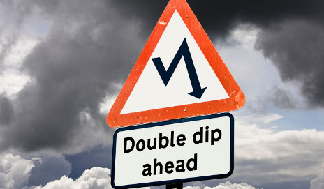 Sign saying double-dip ahead