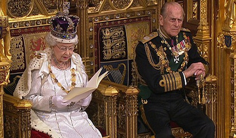 The Queen gives the speech in the Lords chamber - parliamentary copyright images are reproduced with the permission of Parliament