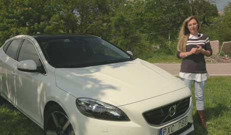 Volvo V40 and Claire Evans