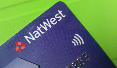 NatWest debit card with contactless symbol