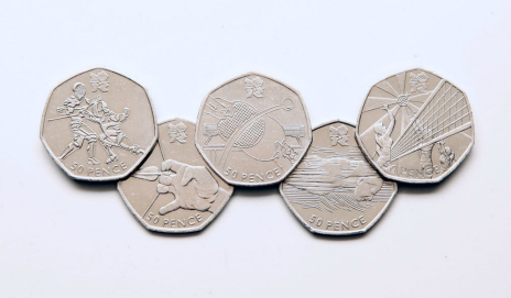 50 pence pieces