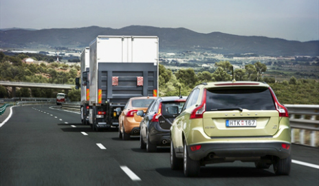 The Volvo five-vehicle driverless convoy