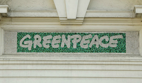 Greenpeace logo on UK offices