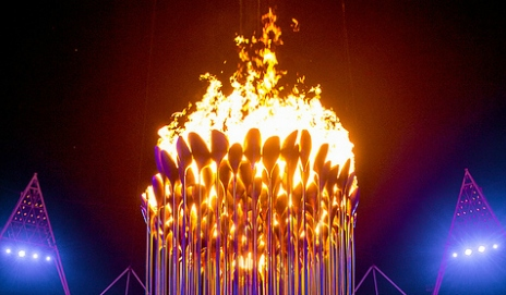 Olympic 2012 cauldron