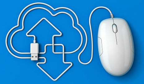 Mouse downloading to cloud