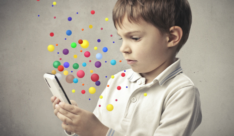 Child using smartphone