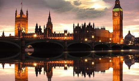 Parliament at sunset