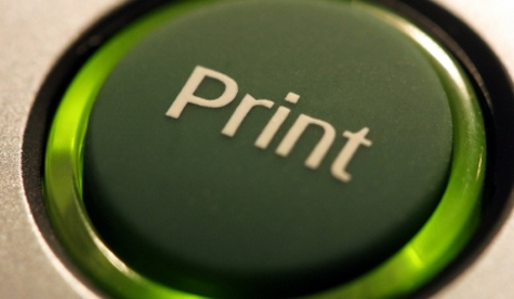 Print button on printer