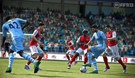 Game play screen shot from Fifa - Photo courtesy of EA Sports