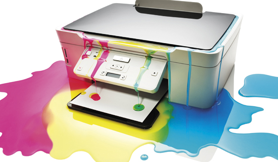 Printer leaking colour ink
