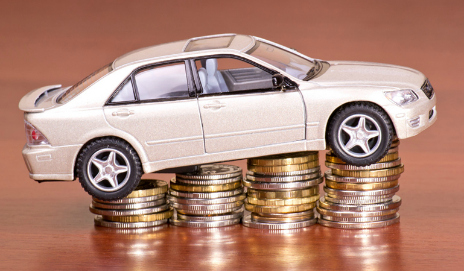 Model car on coins