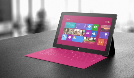 Microsoft Surface in pink