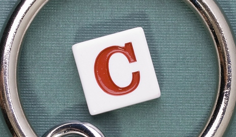 The letter C