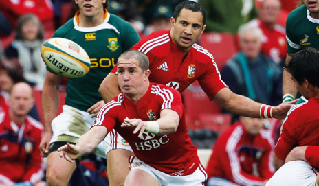 British & Irish Lions rugby team playing against Australia