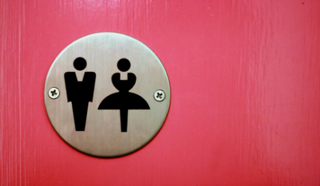 Male and female toilet signs