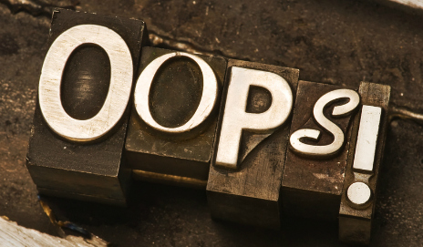 The word 'oops!'