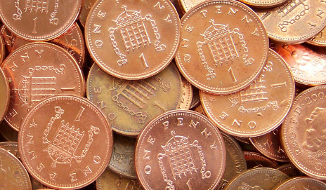 UK one pennies