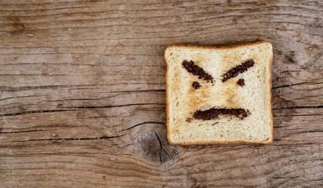 An angry slice of toast