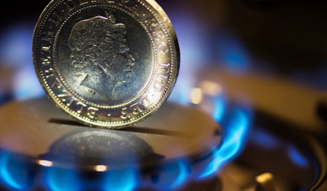 Coin on gas flame