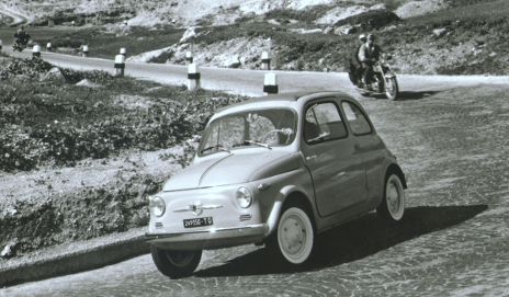 Fiat 500 - black and white photo