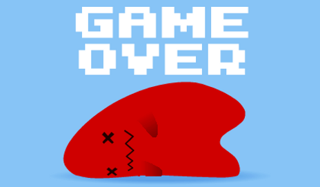 Game over cartoon