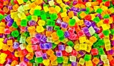 A pile of brightly coloured sweets
