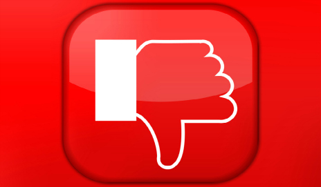 A social media dislike button