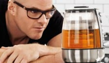 Heston Blumenthal looking at his tea maker