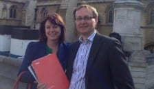 Jenny Driscoll and Mark McLaren from Which? at Parliament
