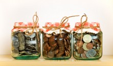 Saving money in jam jars