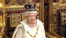 The Queen delivering the Queen's Speech