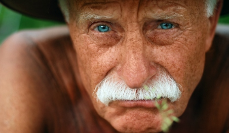 Elderly man's face